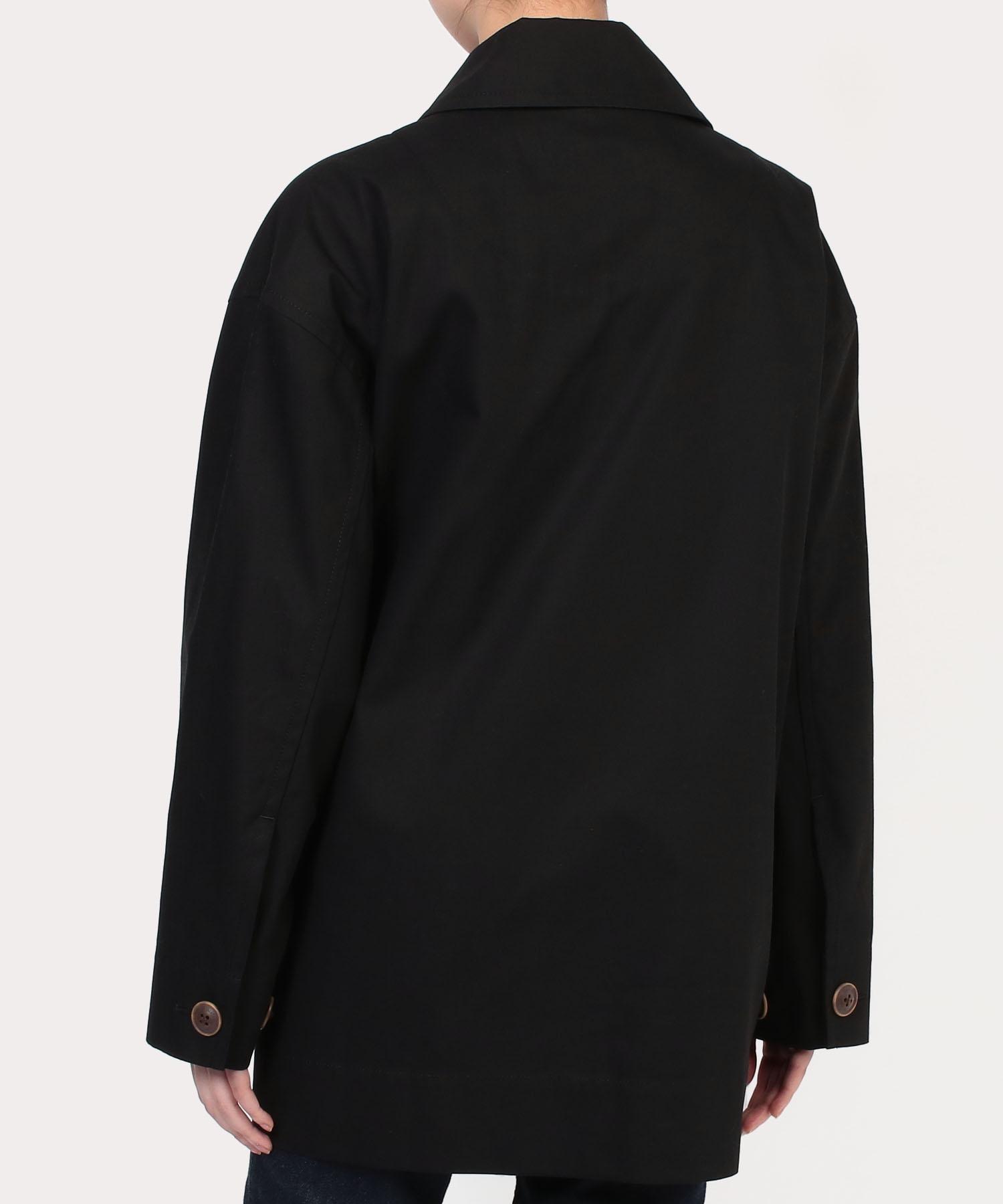 アシンメトリー シャツジャケット