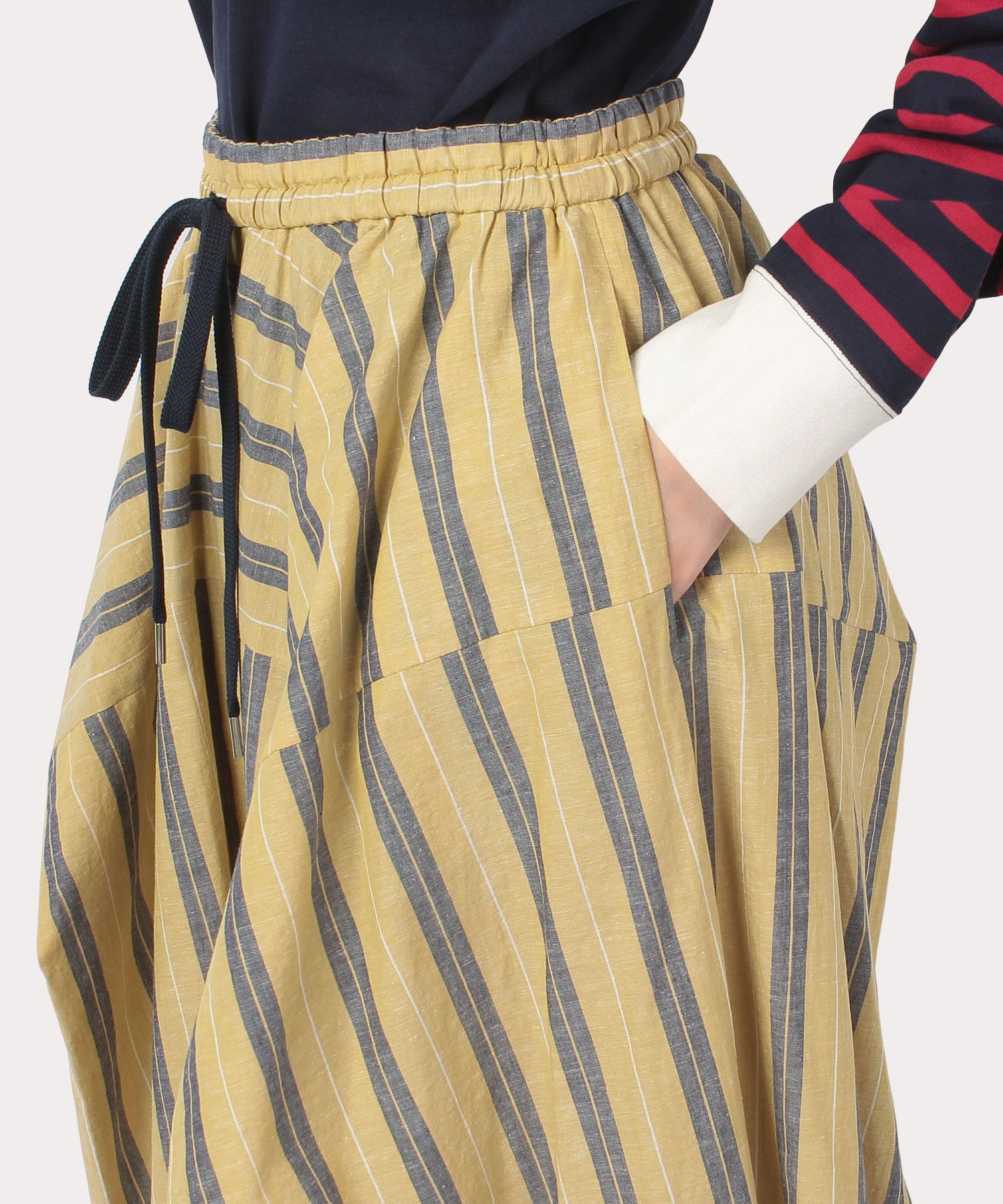 ストライプ ボックスロングスカート
