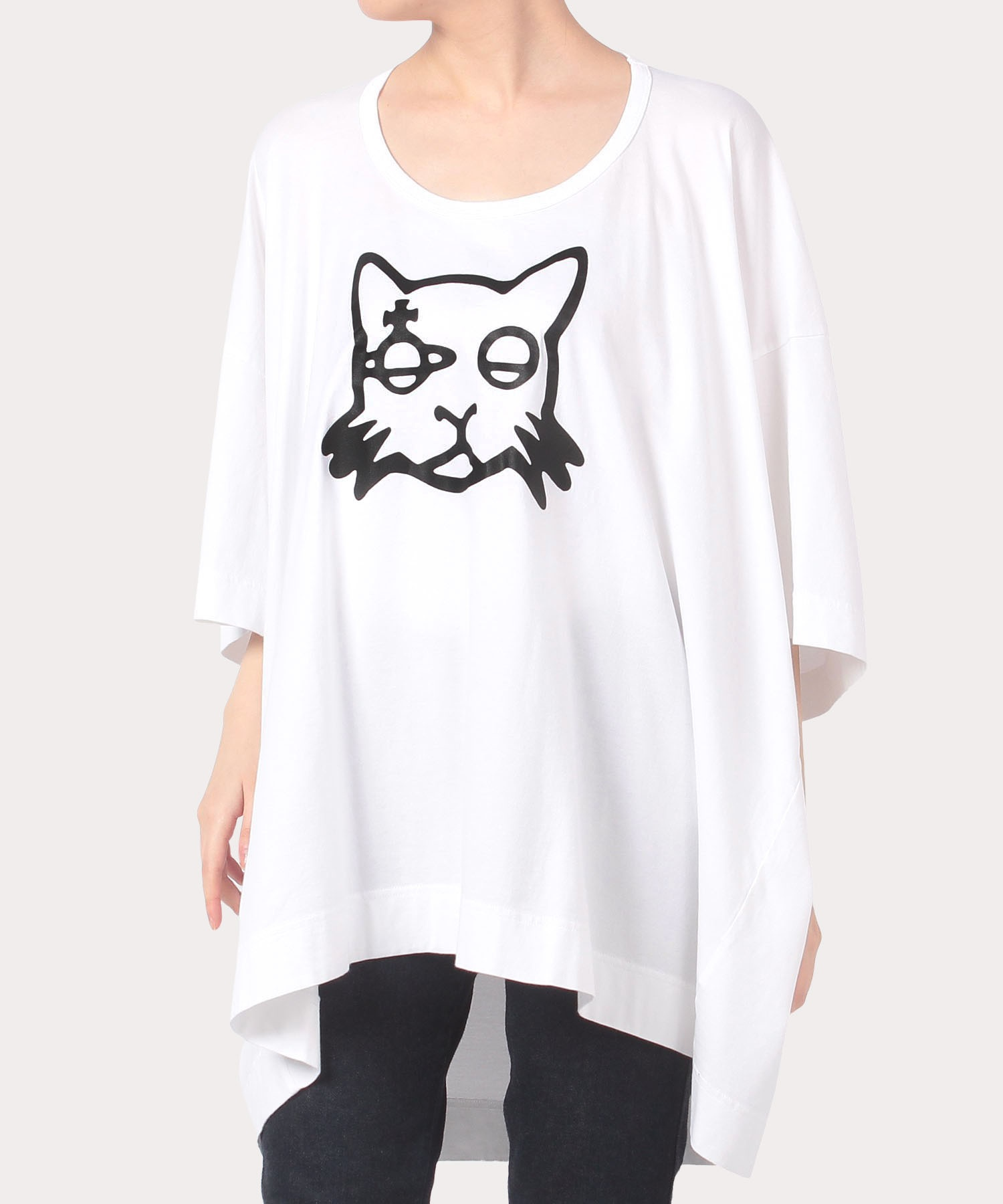 キャットプリント ビッグTシャツ