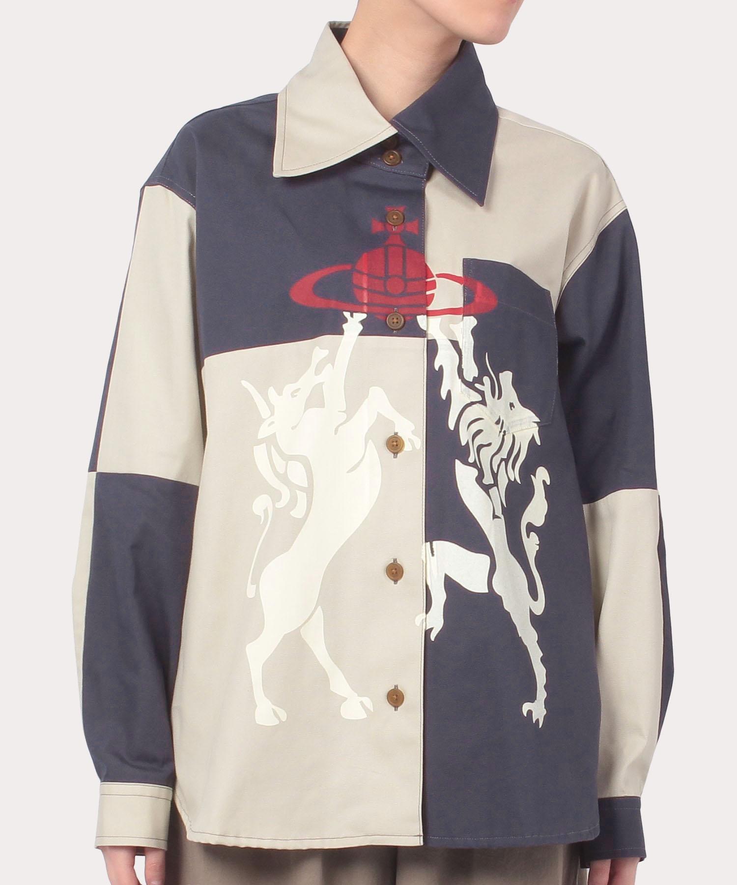 ホース&ライオン ブロッキング シャツ