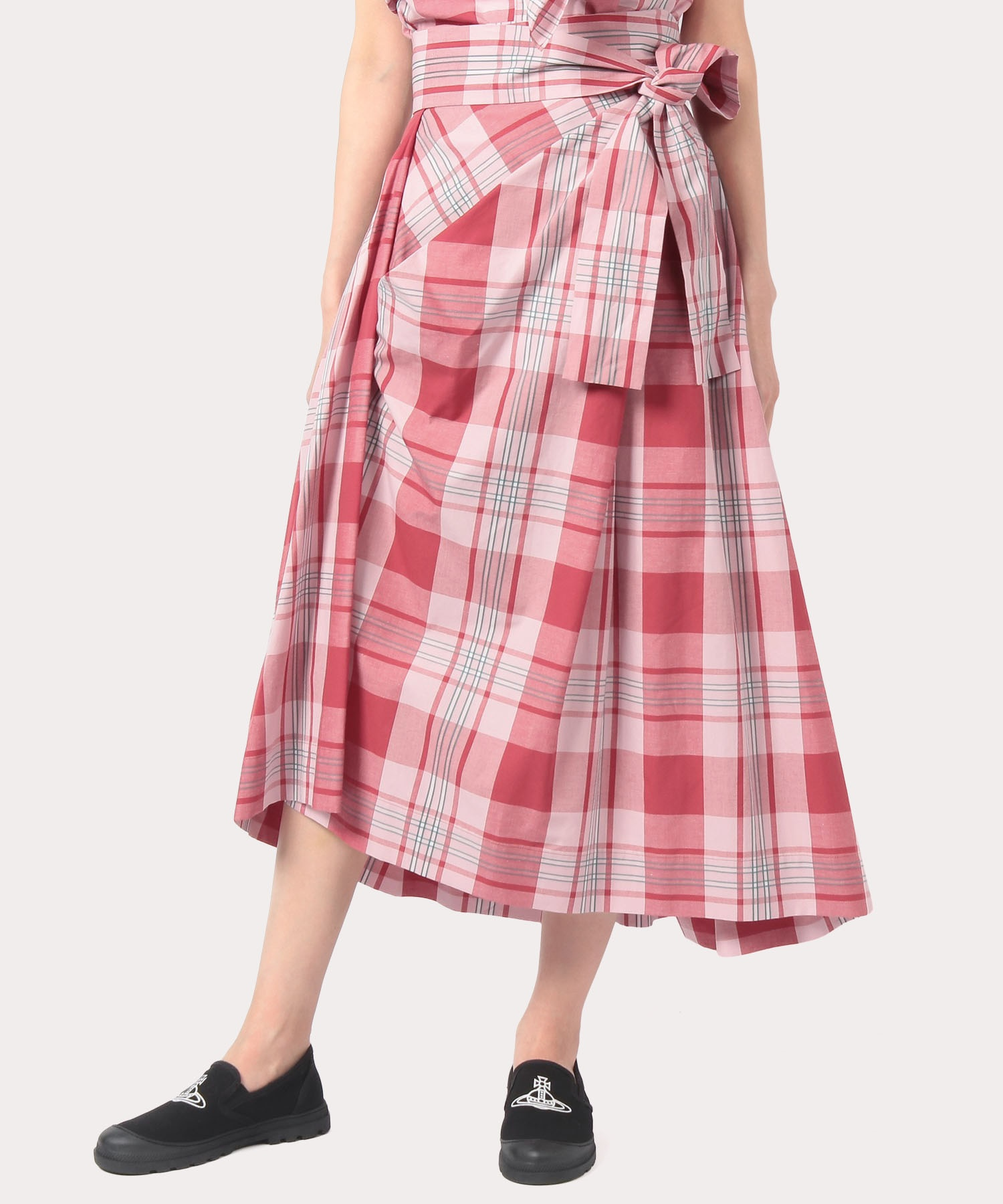 サマーチェック ロングスカート