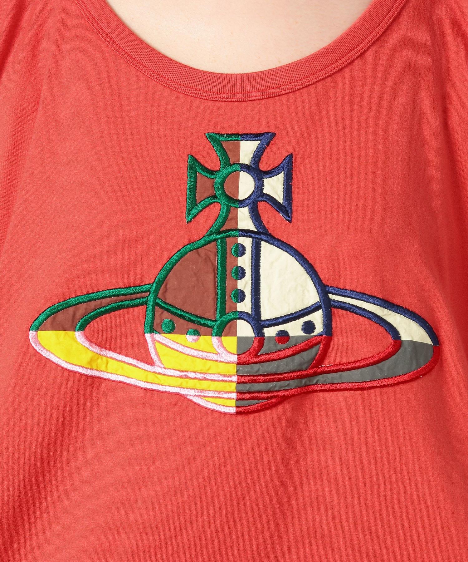 クォーターORBアップリケ刺繍 ビッグTシャツ