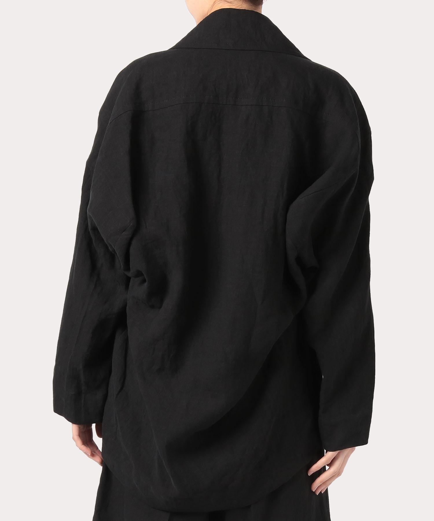 フレンチリネン ボックスジャケット