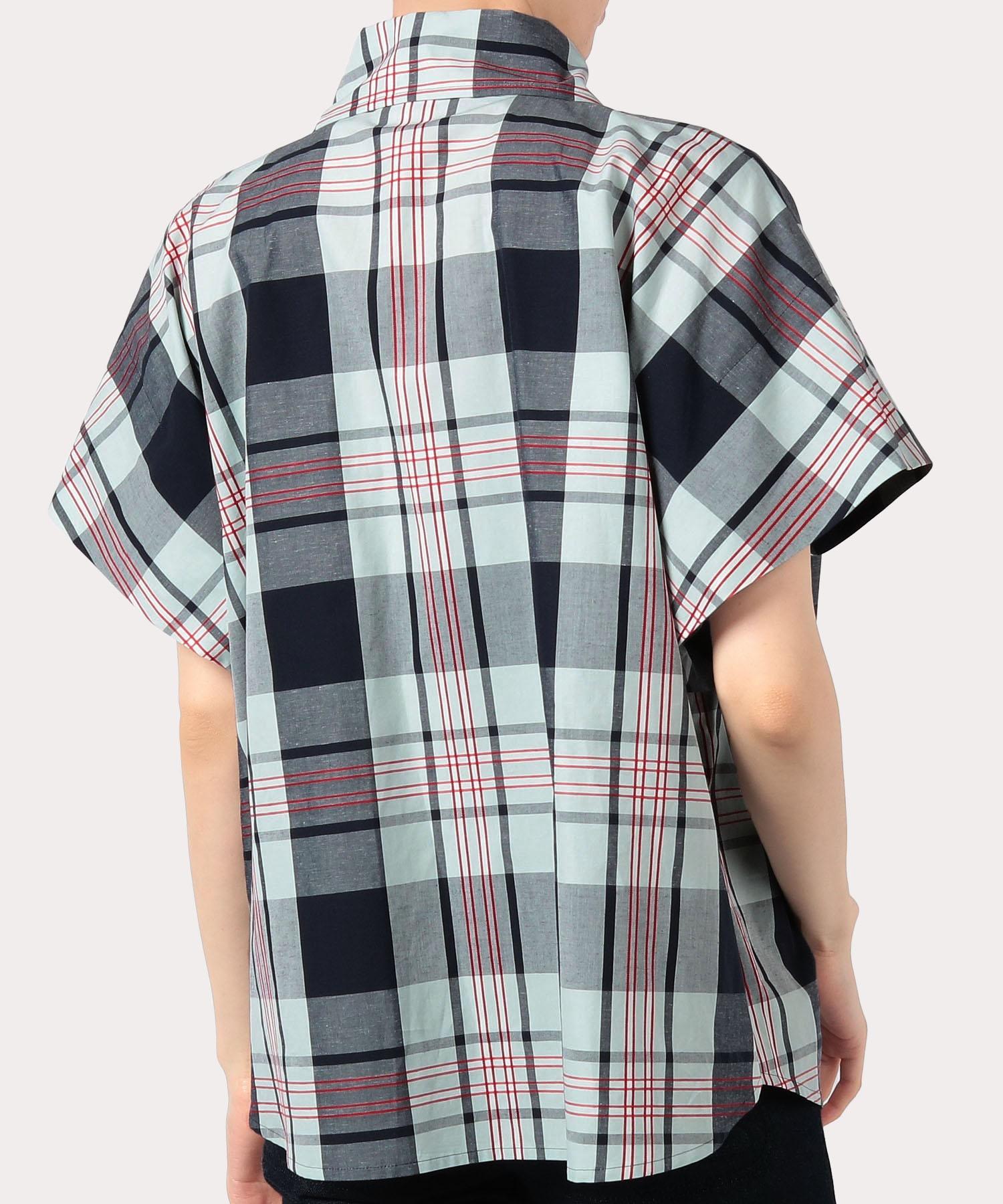 サマーチェック 半袖シャツ