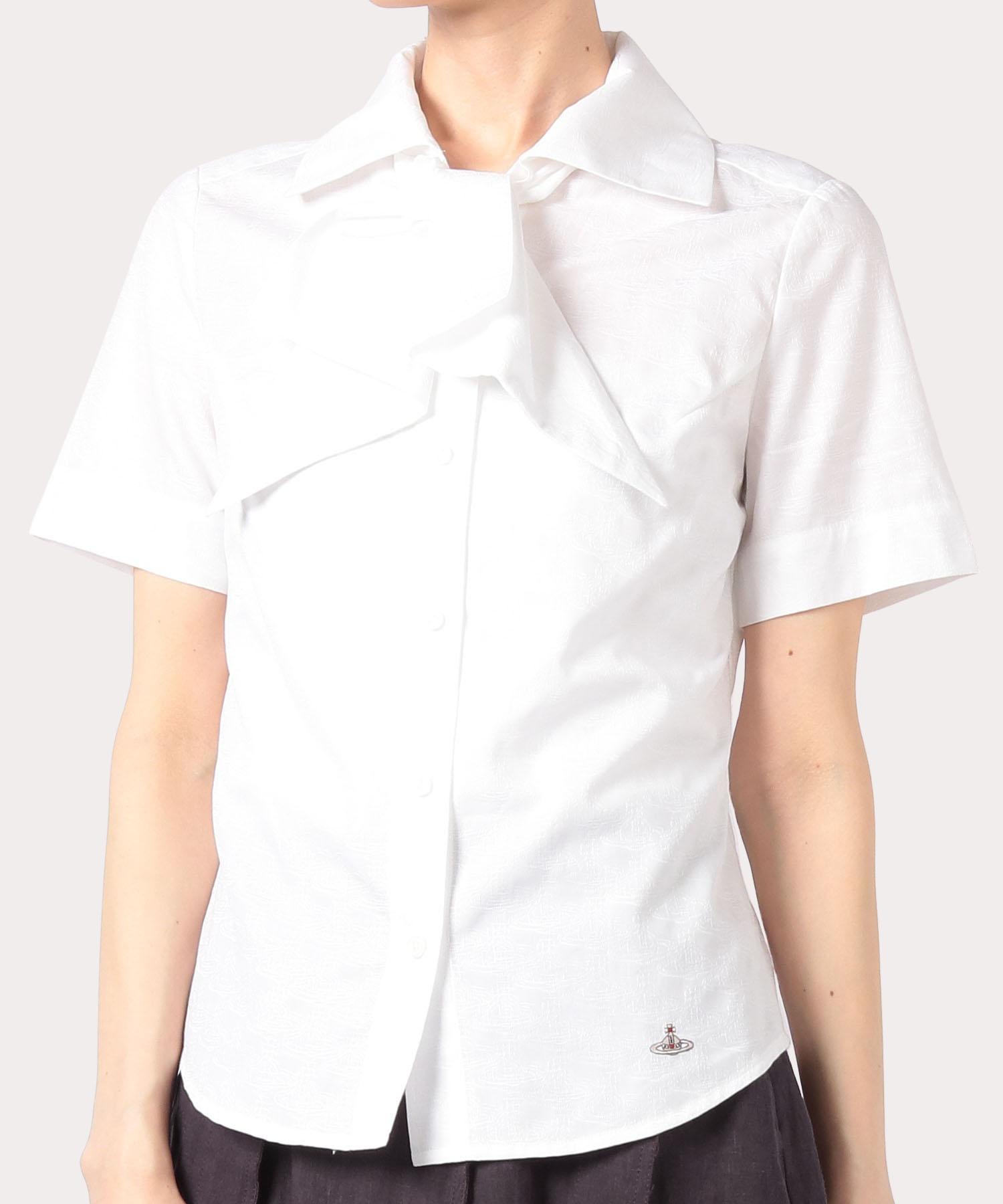 ORBリピート ジャカード タイ付半袖シャツ