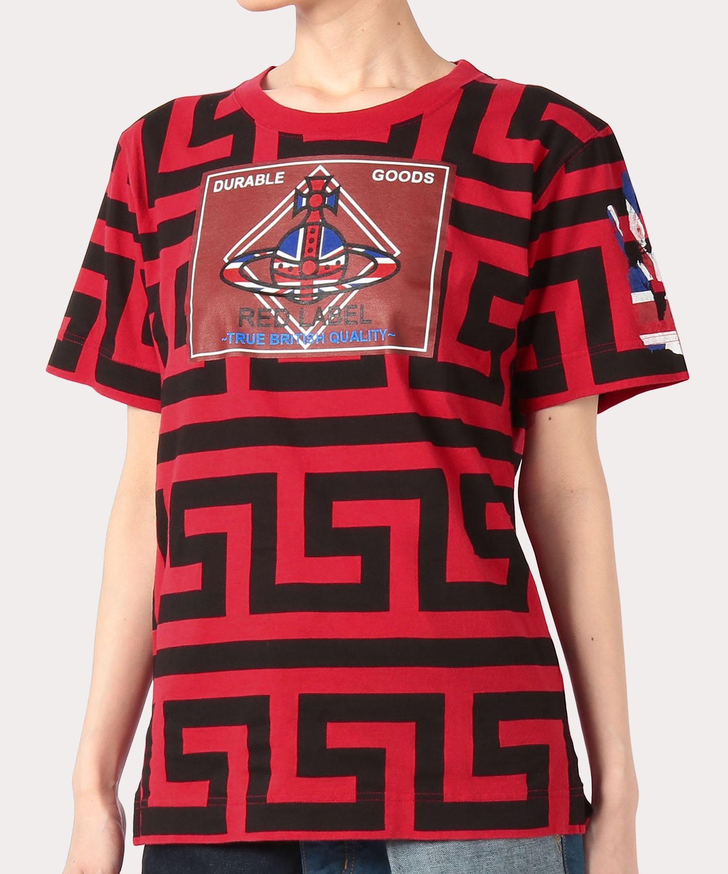 グリーク キー&デュアブル パッチ ボーイズTシャツ