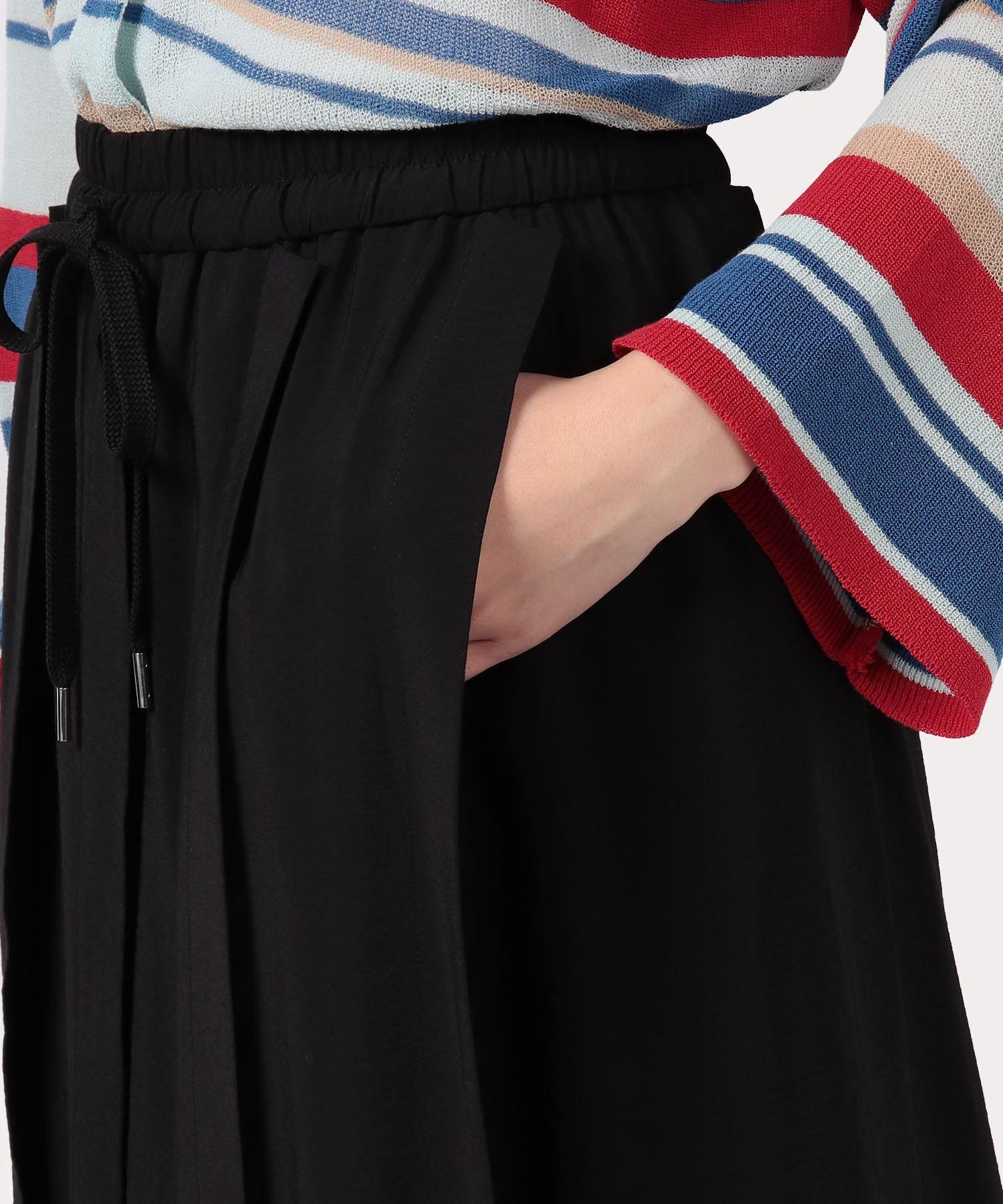 モノポリーポプリン ロングプリーツスカート