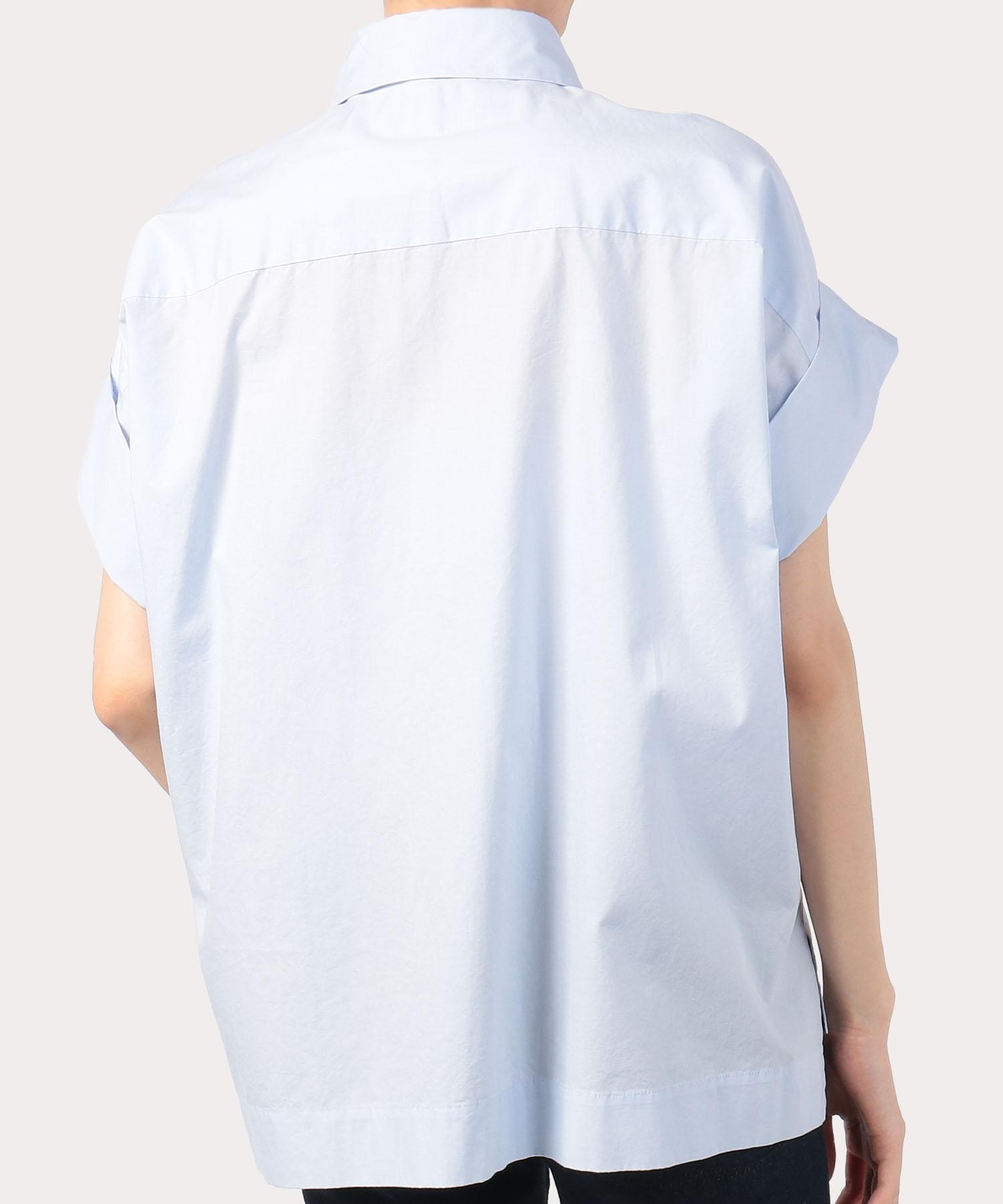 ブラックパールネックレスプリント スクエアシャツ