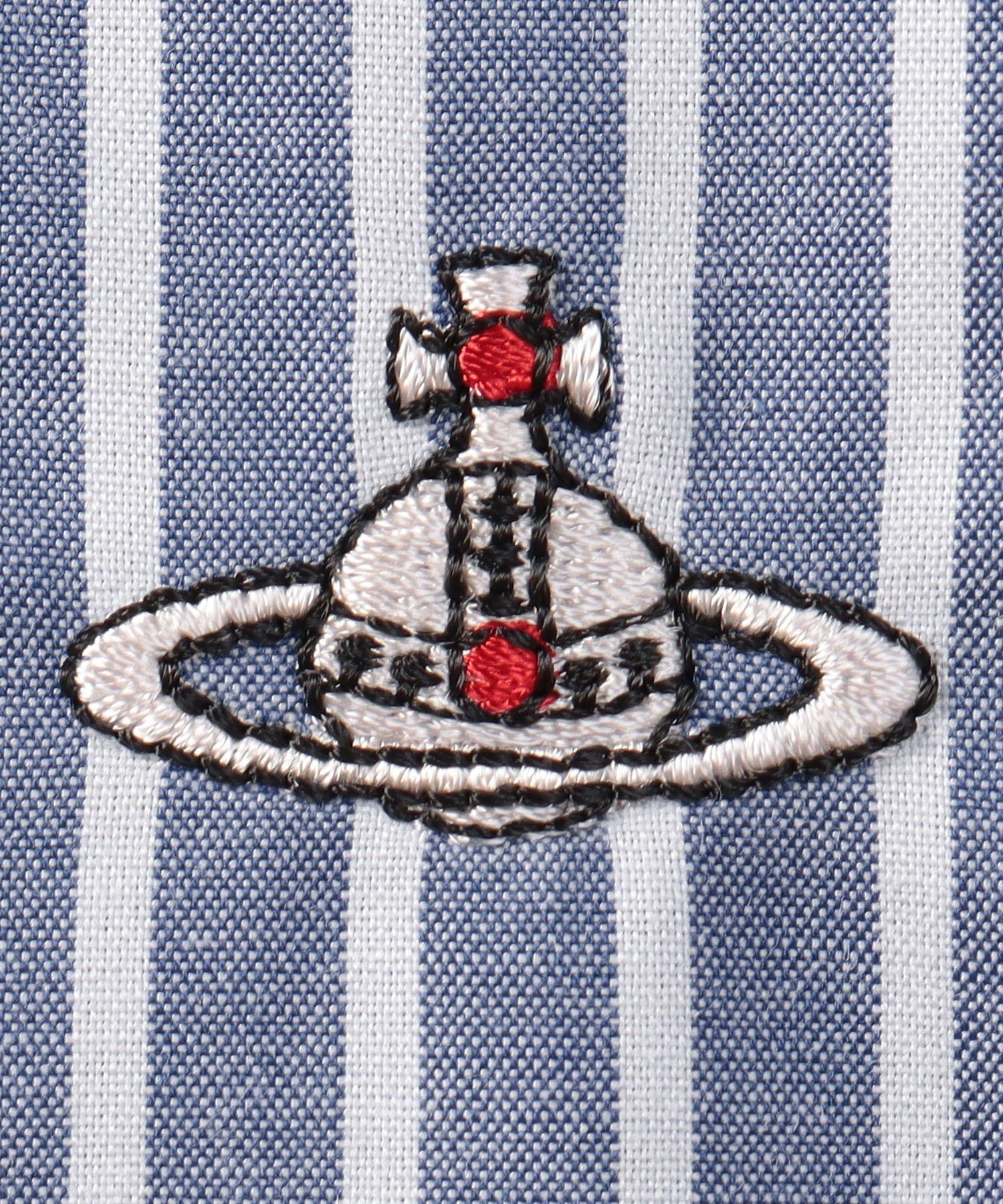 ストライプ ラブロングシャツ