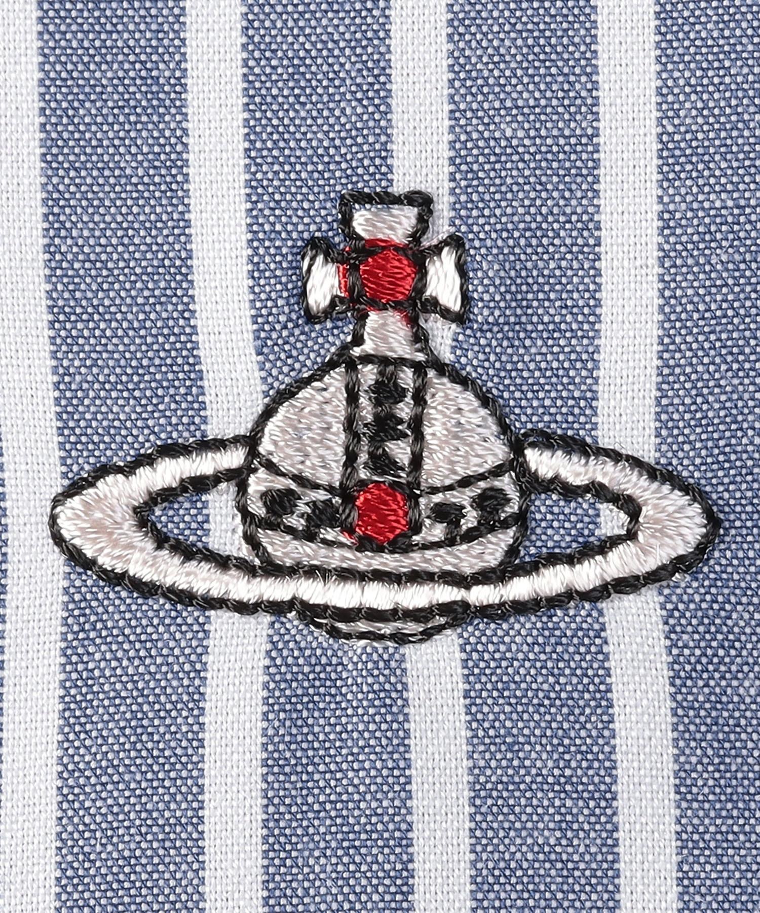 ストライプ フリルギャザーシャツ