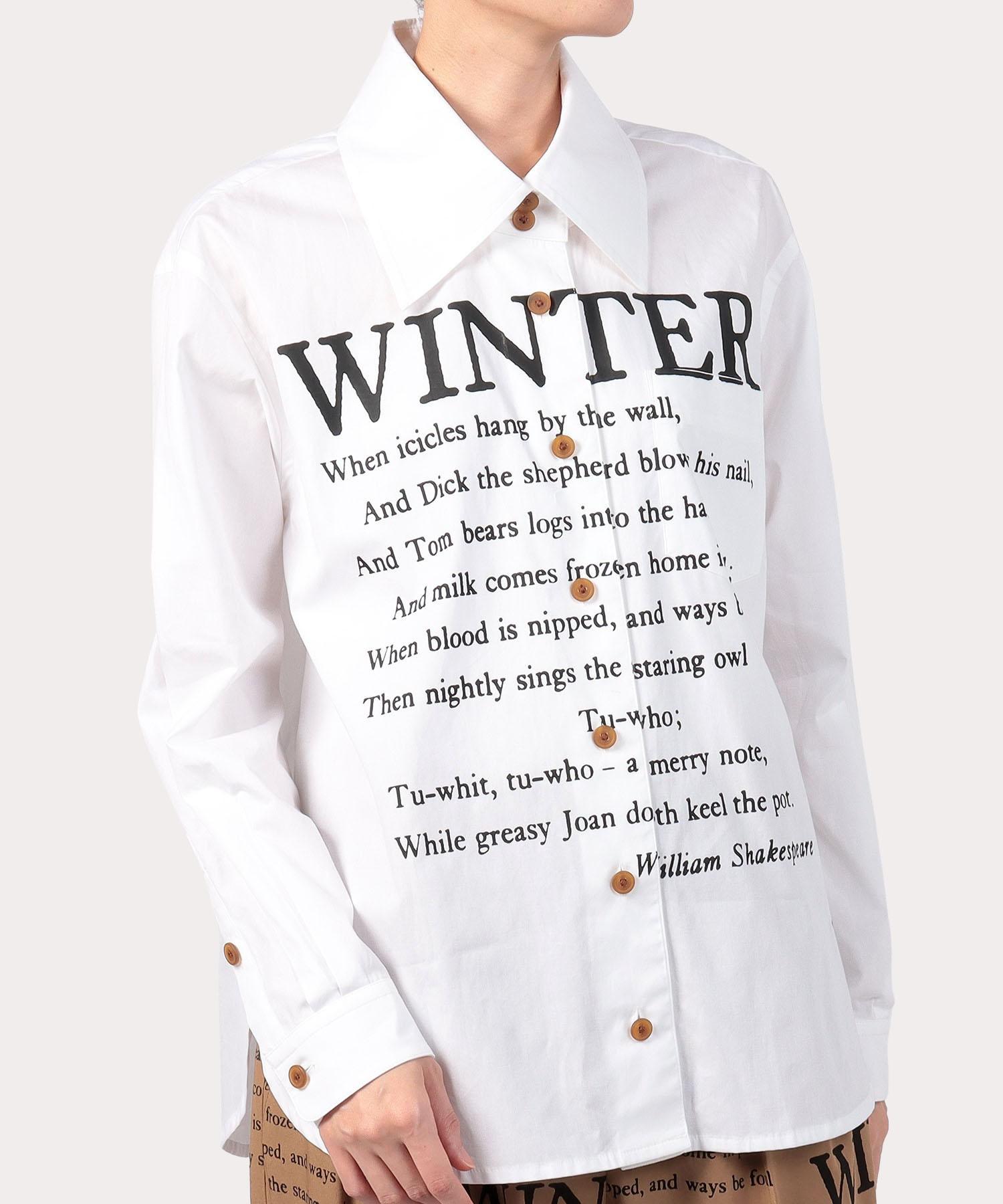 WINTERプリント ルーズシャツ