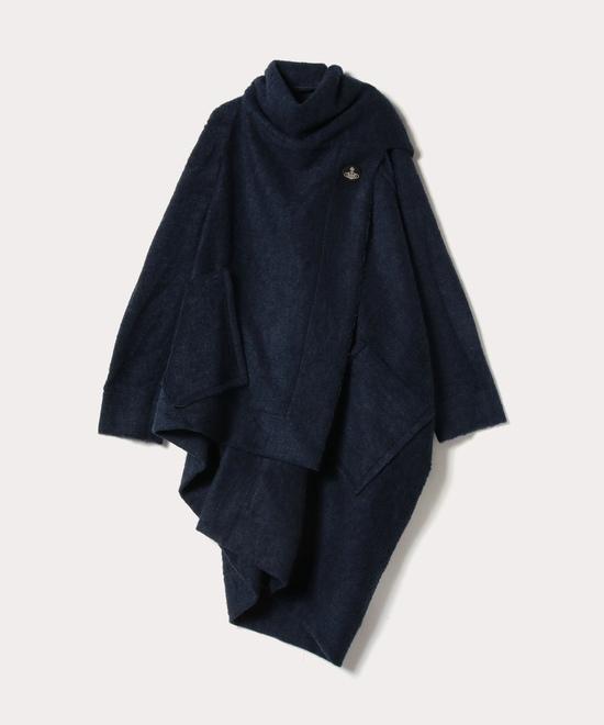 パイル マフラー付コート