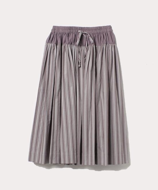 レジメンタルストライプ ギャザースカート