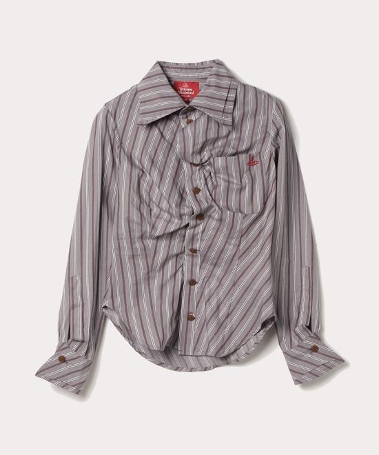 レジメンタルストライプ ドランクシャツ