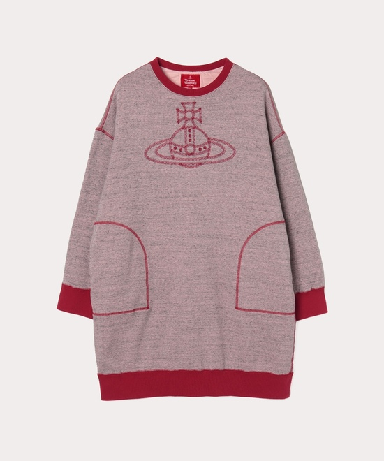 スポーツステッチORB刺繍 スウェットワンピース