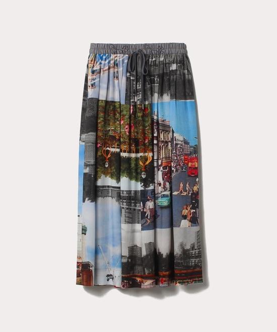 バタシープリント ロングスカート