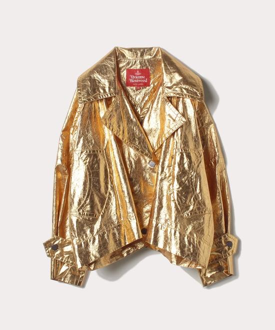 ゴールド箔プリント ジャケット