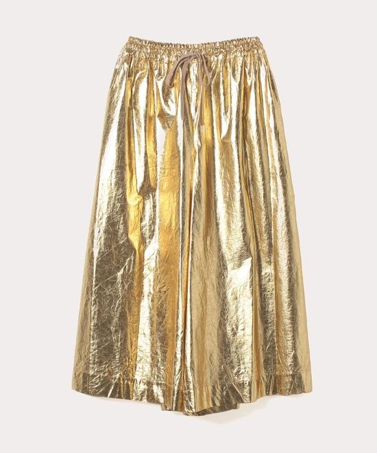 ゴールド箔プリント ワイドパンツ