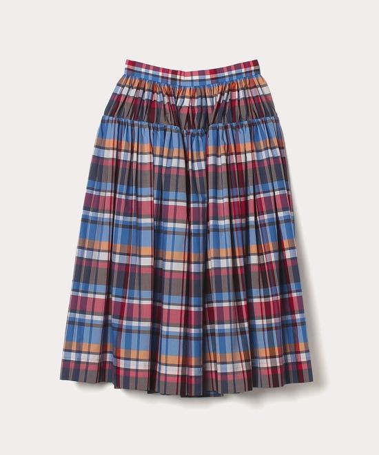 サマーチェック ギャザースカート