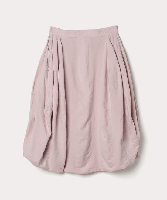 綿レーヨンストライプ ひざ丈スカート