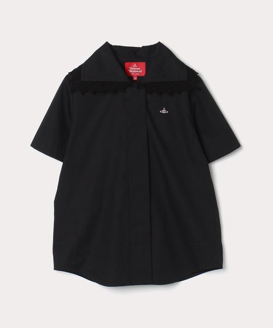 ブロード レースカラー 半袖シャツ