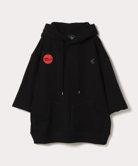 TIME TO ACT HOODIE 七分袖パーカー