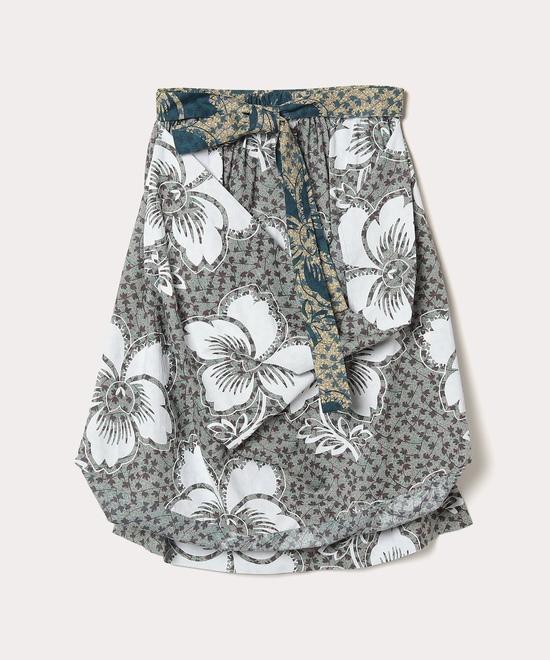 小花×ダンシングフラワー スカート