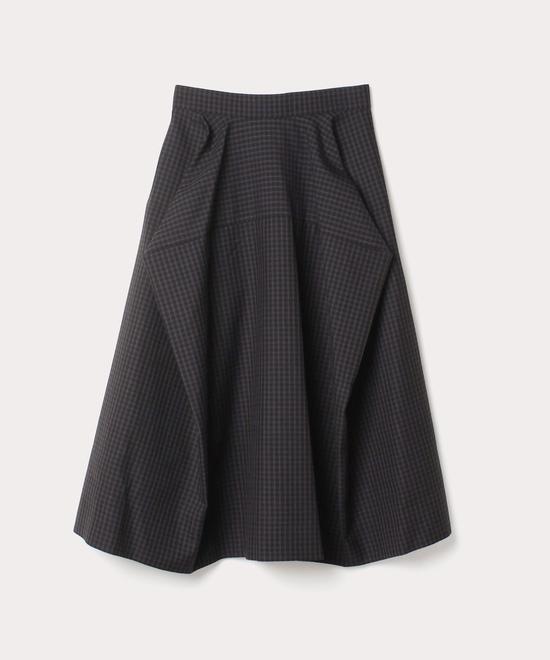 チェック ボックススカート