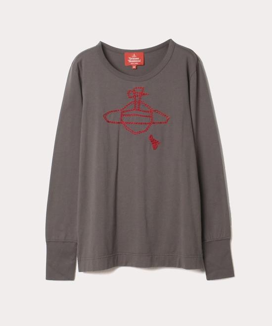 ハンドステッチORB刺繍 長袖Tシャツ