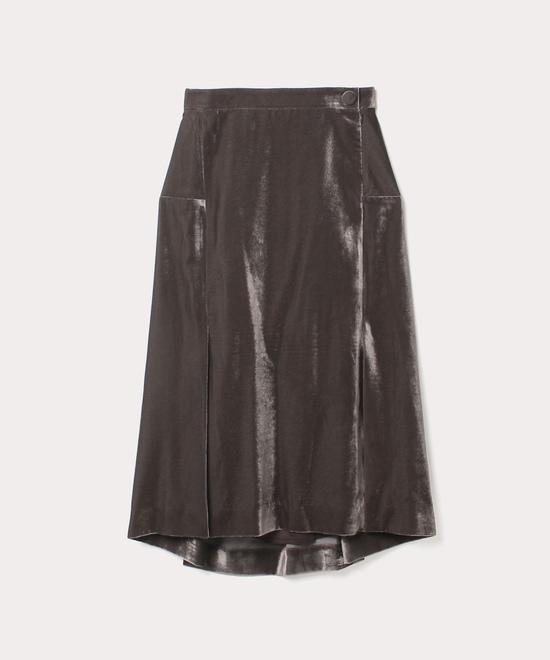 ベルベット バレルラインスカート
