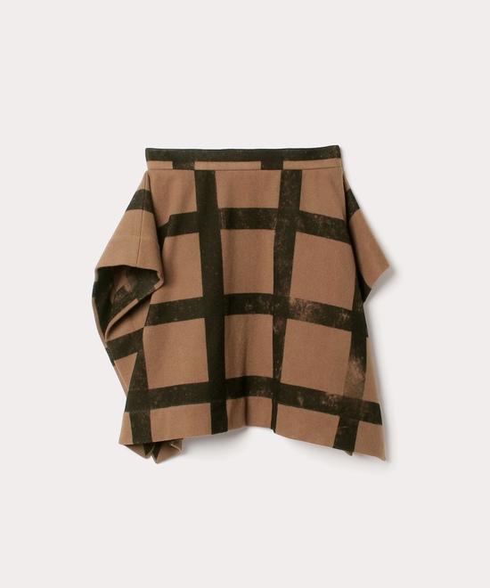 ウールチェック スカート