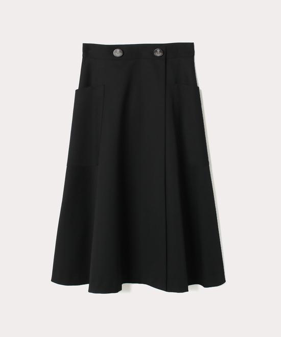 ウールギャバ フレアスカート