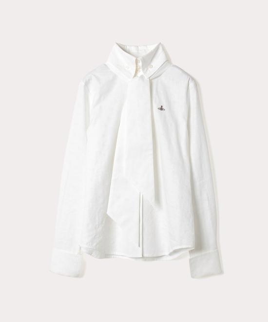 ORBリピート ジャカード タイ付シャツ