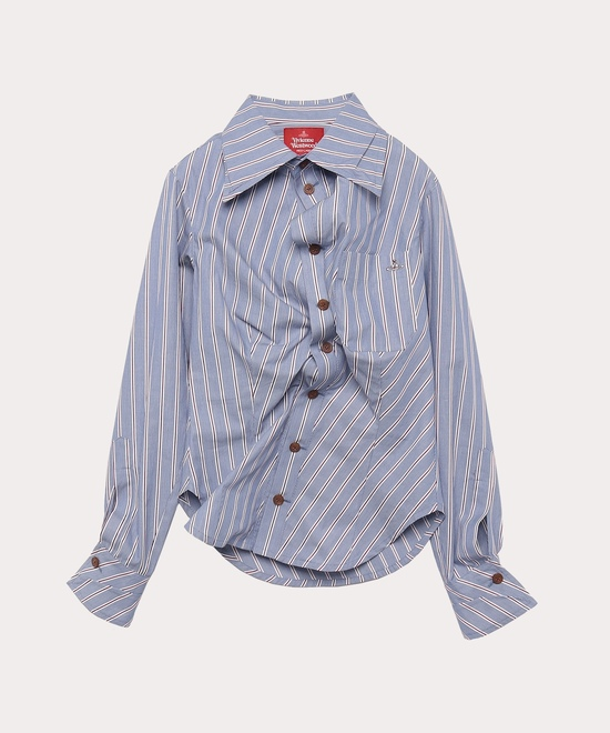 ストライプ ドランクシャツ