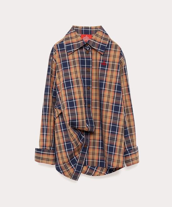 タータンチェック ドランクシャツ