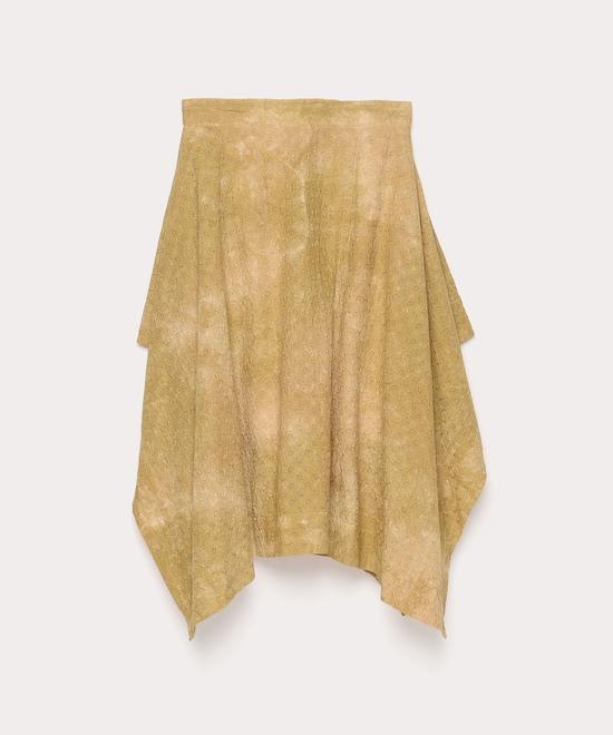 カットワーク刺繍 スクエアスカート