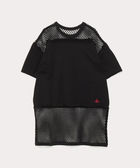 ジャージー×メッシュ Tシャツ