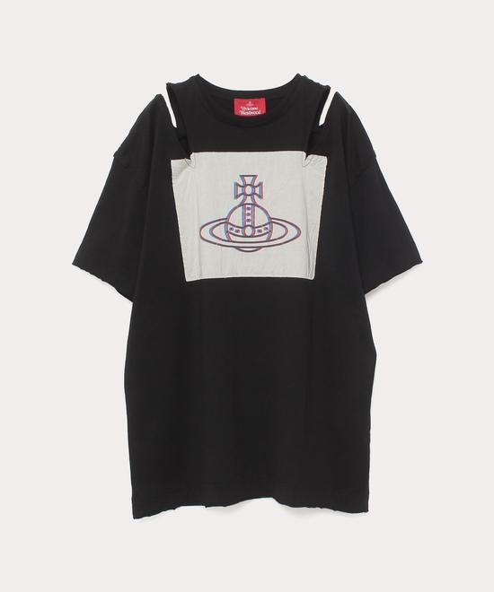 ラブハートORB オープンショルダーTシャツ