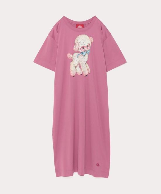 オンラインショップ限定カラー コットンラム Tシャツワンピース