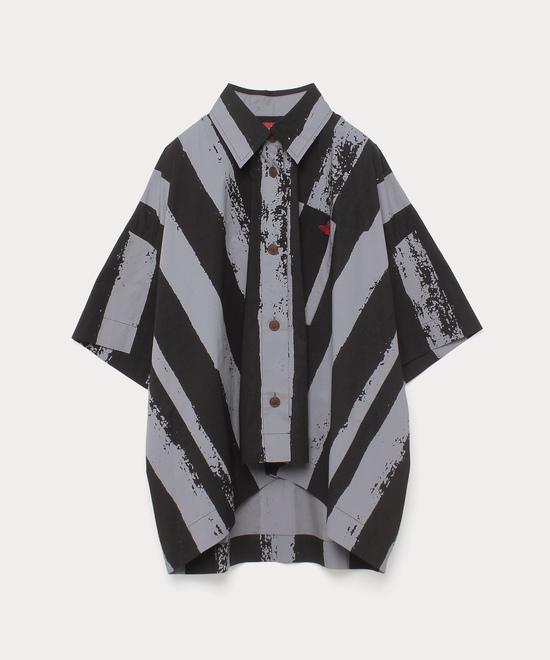 ハンドストライプ オーバーサイズシャツ