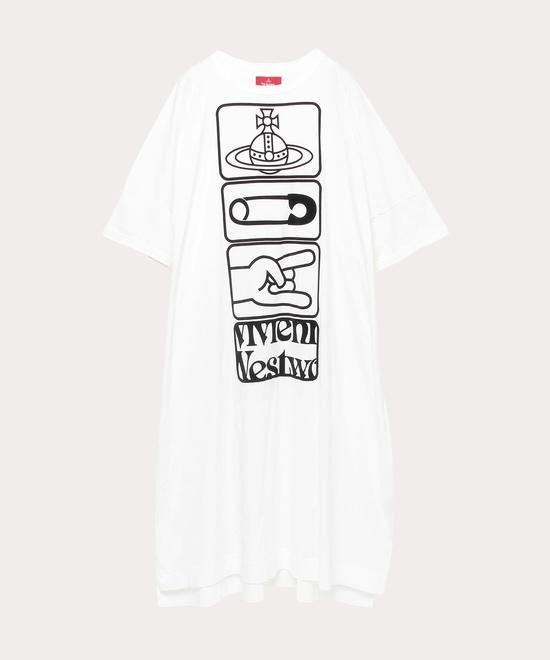 タグプリント ボーイズビッグTシャツワンピース