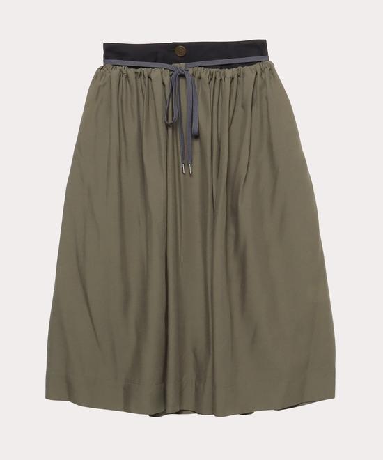 キュプラウール ダブルフロントスカート