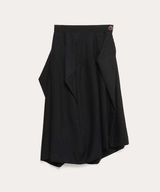 ウールトロピカル アシンメトリースカート