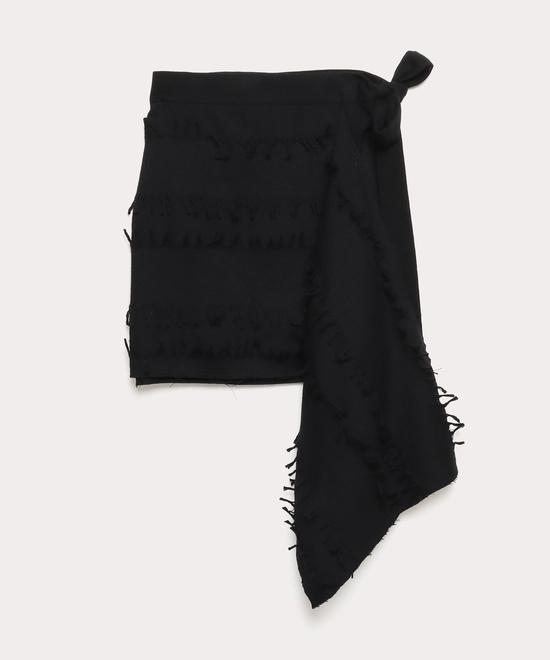 カットフリンジ ブランケットスカート