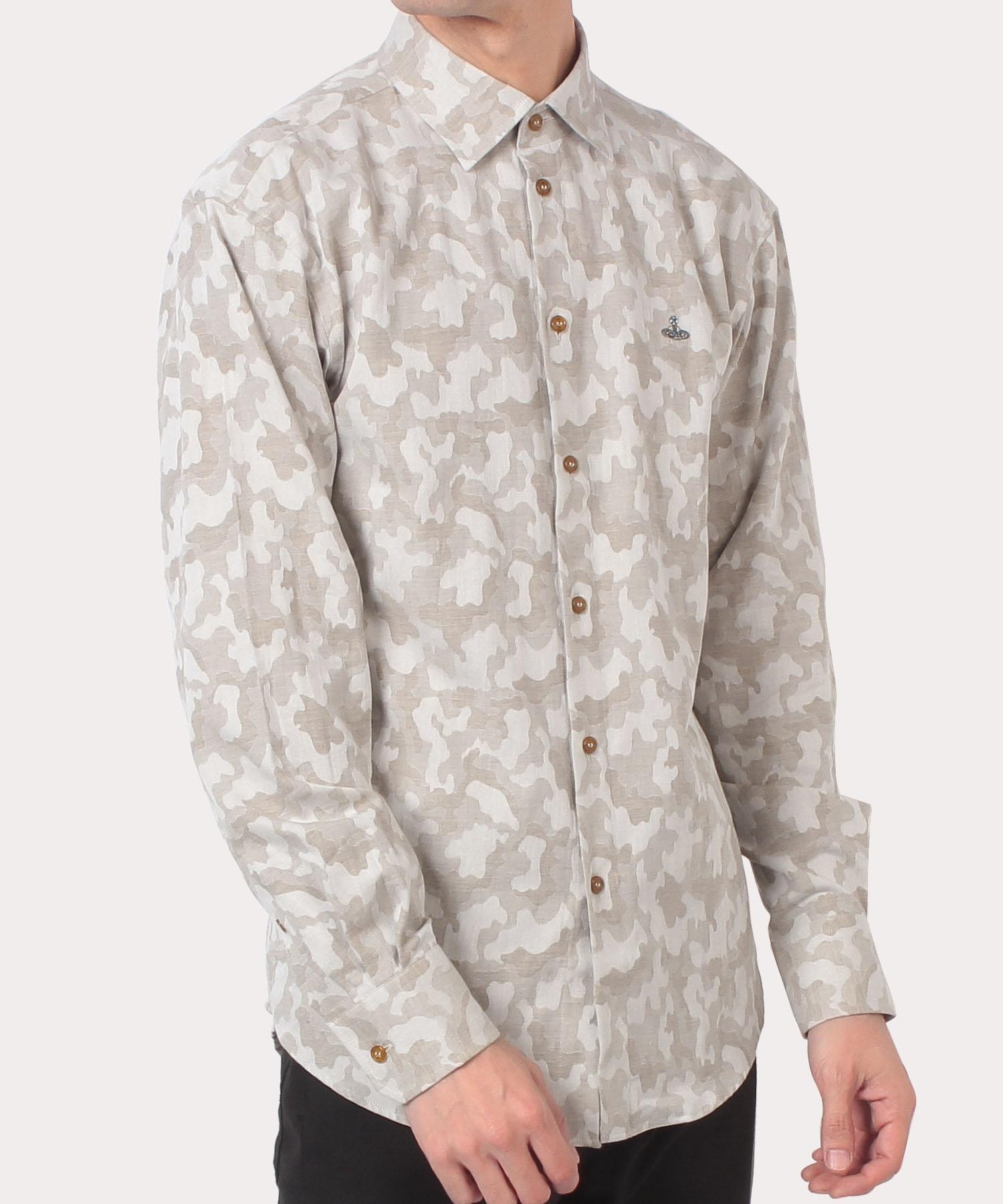 ジャカードカモ リラックスクラシックシャツ