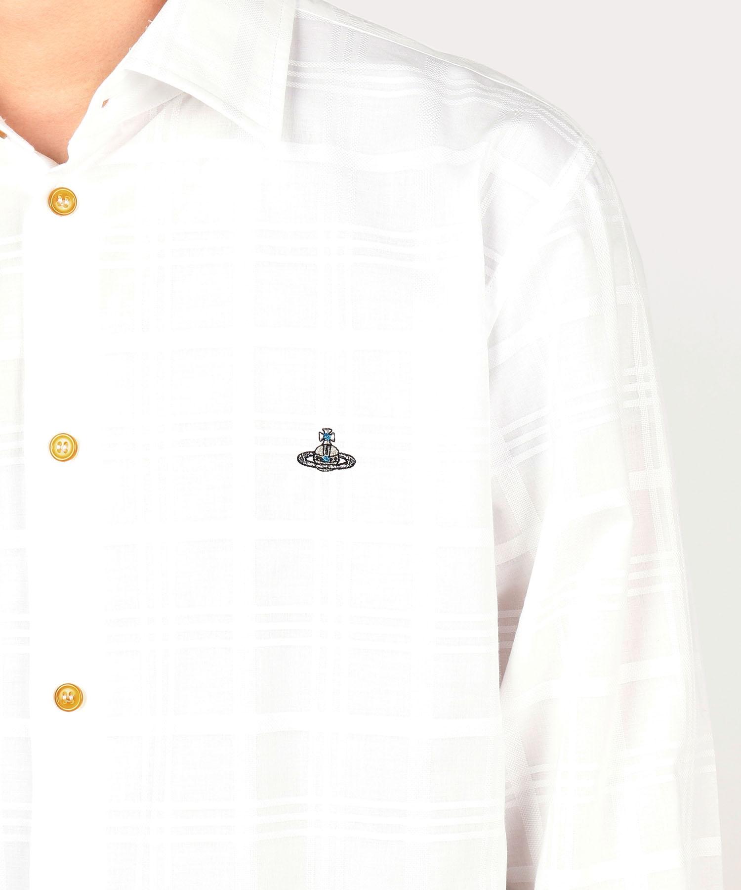 ジャカードチェック クラシックシャツ
