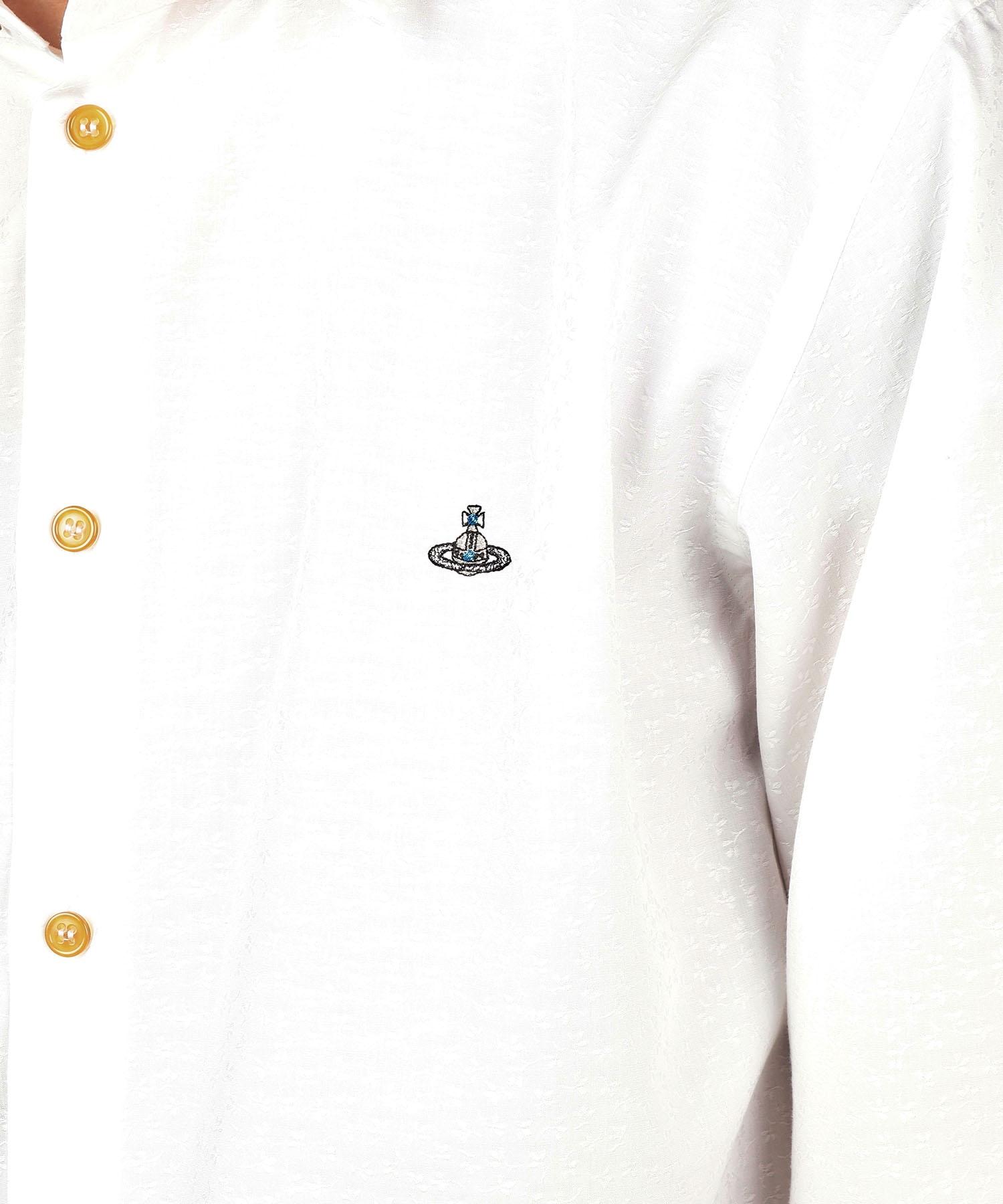 フラワー ジャカードシャツ