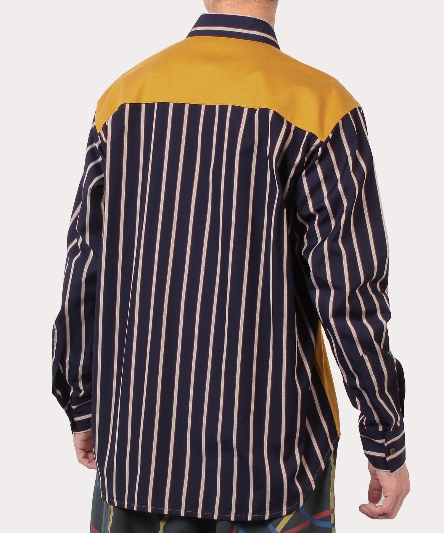ストライプ ジップシャツ