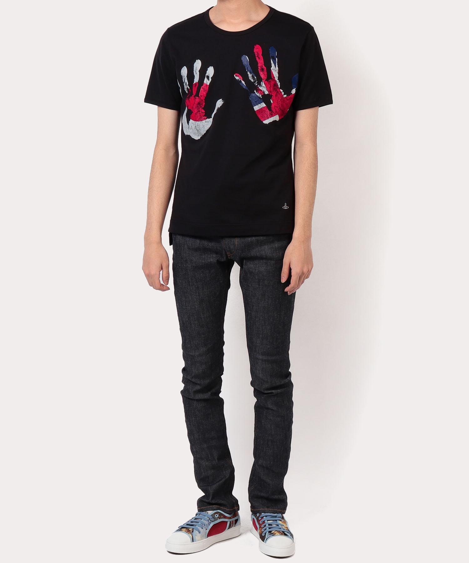 ハンドプリント クラシック半袖Tシャツ