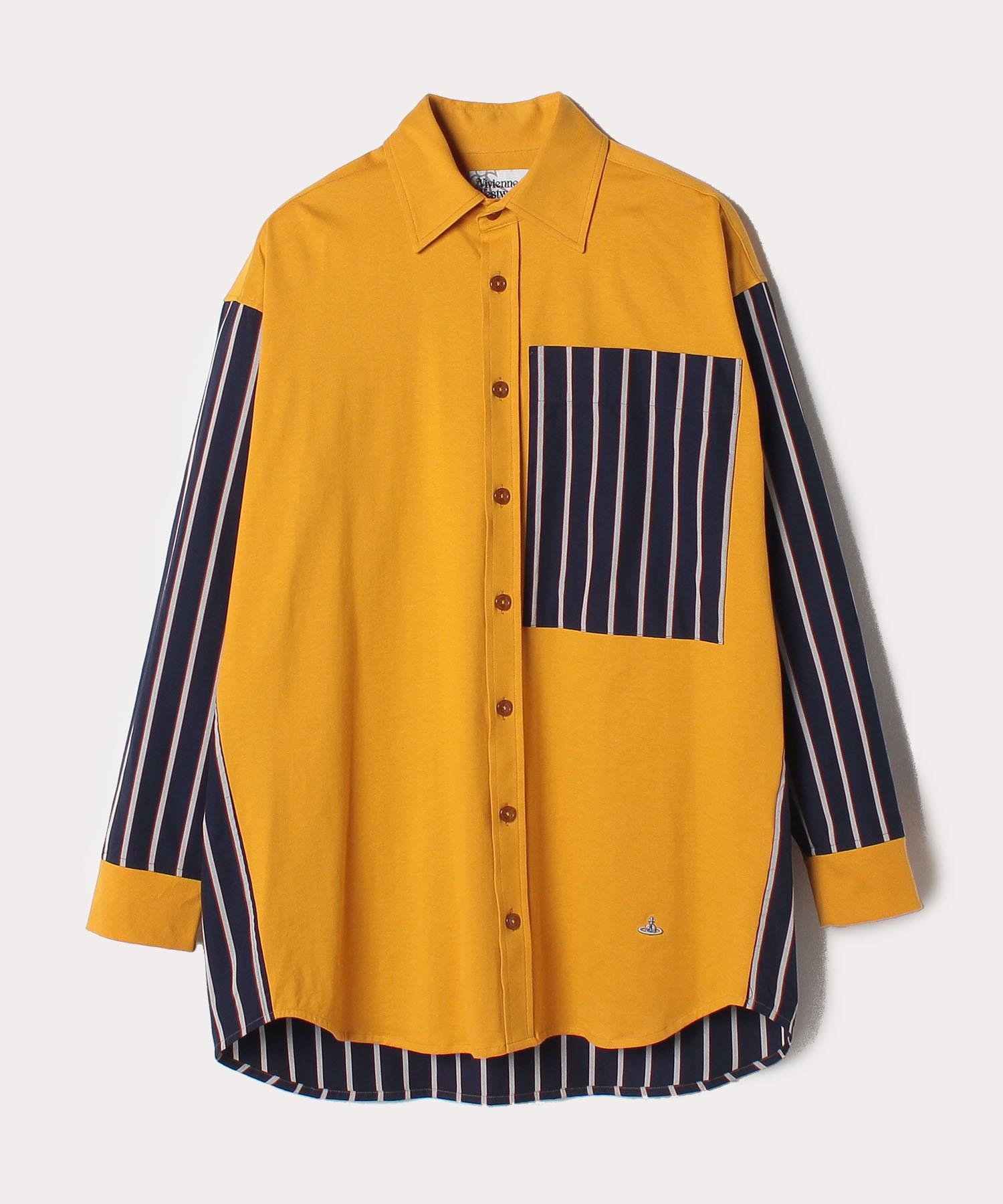 ストライプコントラスト ビッグシャツ